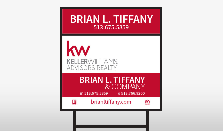Brian L. Tiffany Yard Sign