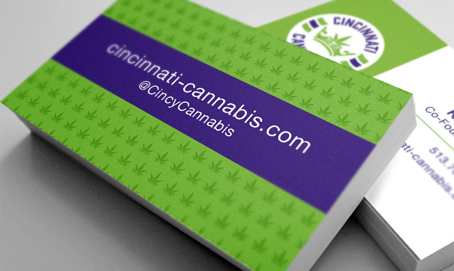 Cincinnati Cannabis Business Cards