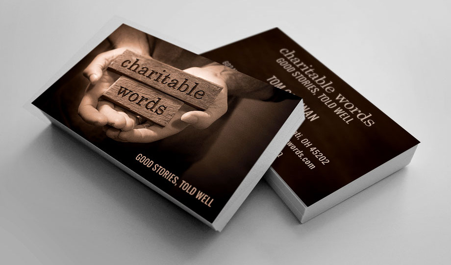 Charitable Words Business Cards