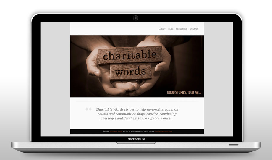 Charitable Words Web Refresh