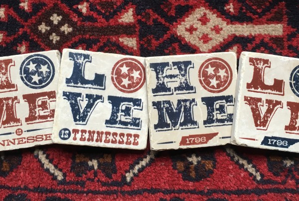 Tennessee HOME & LOVE Marble Coaster Set-4pk