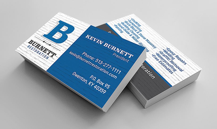 Burnett Restoration Business Cards