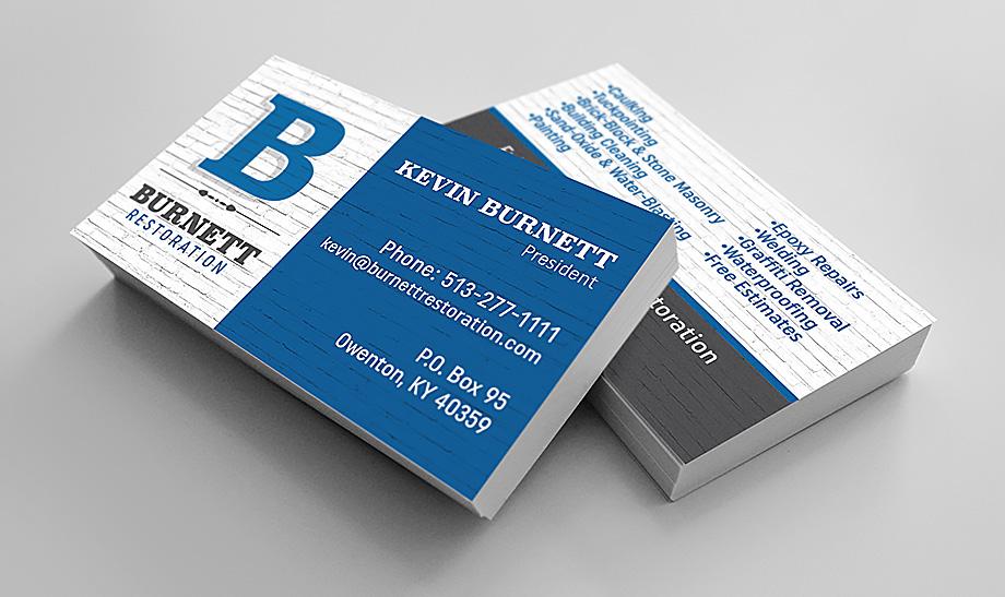Burnett Restoration Business Cards
