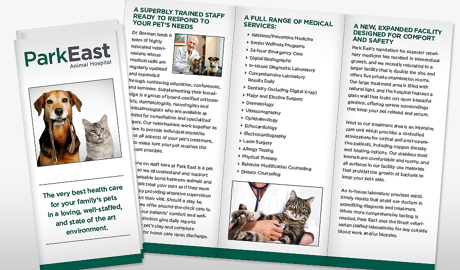 Park East Animal Hospital Brochure