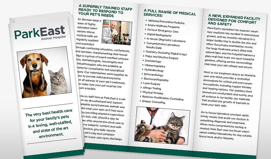 Park East Animal Hospital Brochure