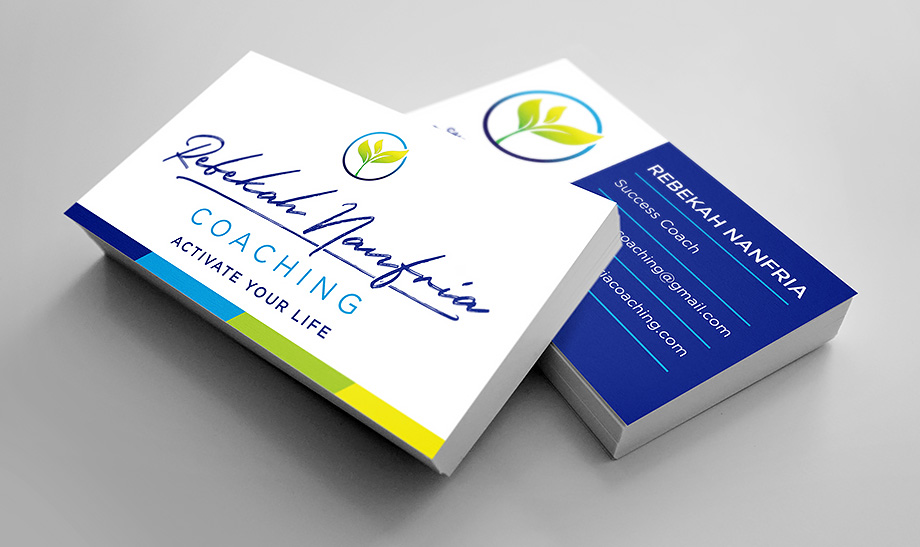 Rebekah Nanfria Coaching - Business Cards