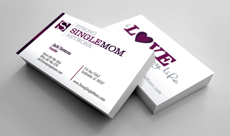 Strong Single Mom Network Business Cards