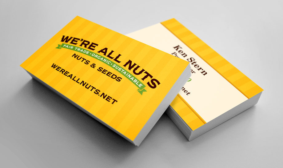 We're All Nuts - Business Cards