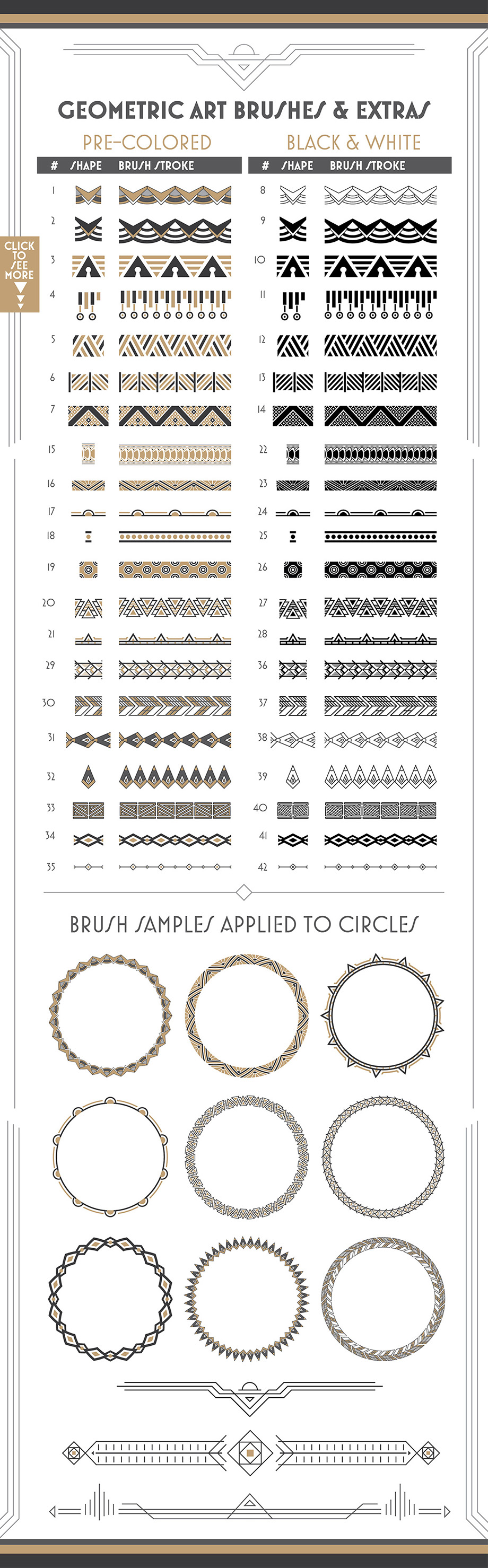 Deco Brushes and Patterns - Creative Market - Slide 4