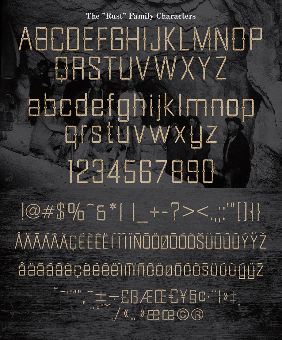 Goldfield Rust Font
