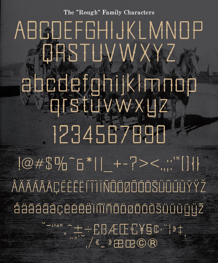 Goldfield Rough Font