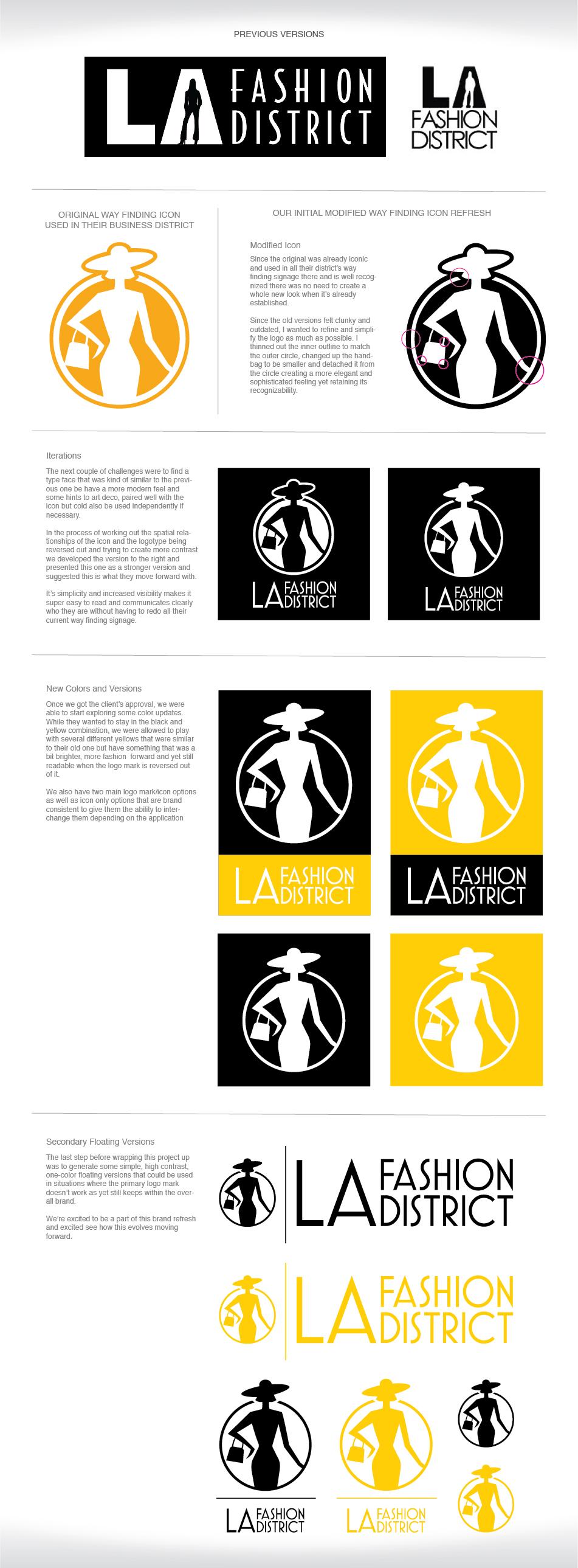 L.A. Fashion District Brand Refresh - Slide