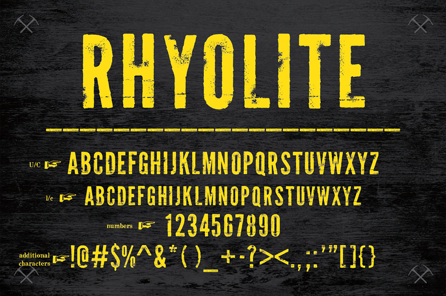 Rhyolite + Gold Dust Font -2