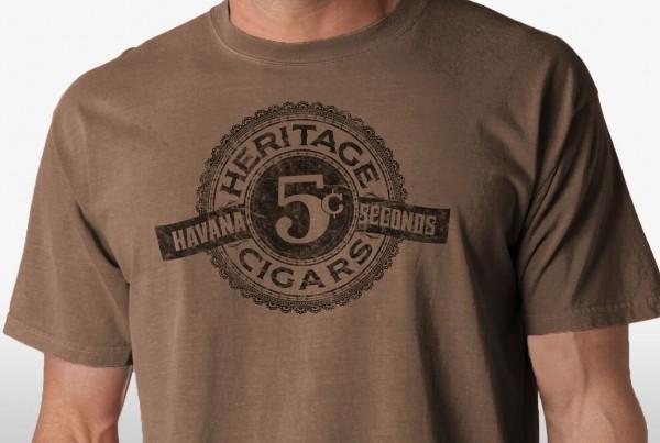 Heritage Cigars Tshirt - crop