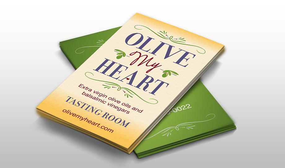Olive My Heart Business Cards