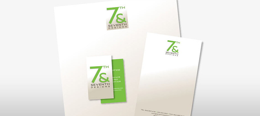 7th & Seventh Designs Stationery