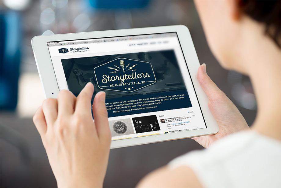 Storytellers Nashville - Digital Mockup